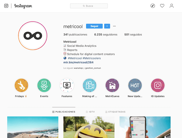 Instagram Metricool