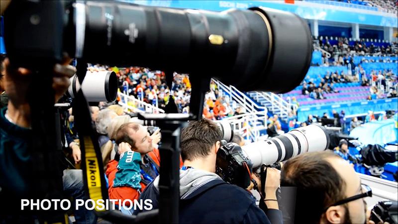 Un día con los fotógrafos en las Olimpiadas de Invierno