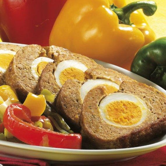 Polpettone relleno (Cocina Italiana)