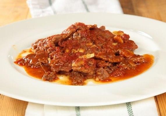 Ternera a la pizzaiola (Cocina italiana)