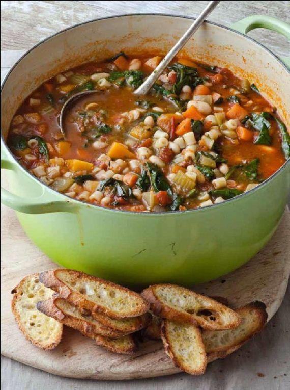 Minestrone o sopa de verduras