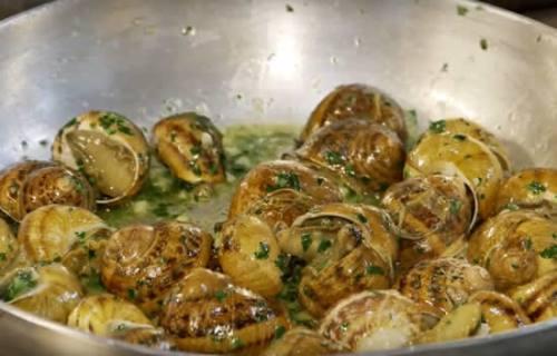 Caracoles en salsa con parmesano