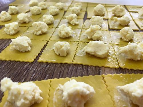 Preparación de ravioli