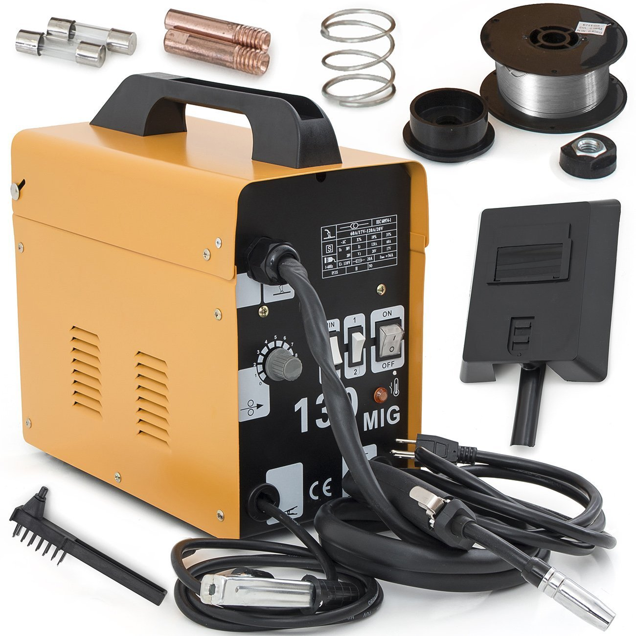 ARKSEN MIG-130 Gas-Less Flux Core Wire Welder Welding Machine Automatic Feed
