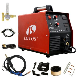 Lotos MIG140 140 Amp MIG Wire Welder Flux Core Welder and Aluminum Gas Shielded Welding