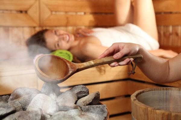 relax sauna steam
