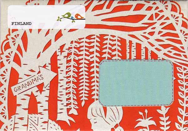 Tässä paperissa on kiva Punahilkka-kuvitus. Vaikka osa siitä jääkin kuoren takapuolella piiloon.