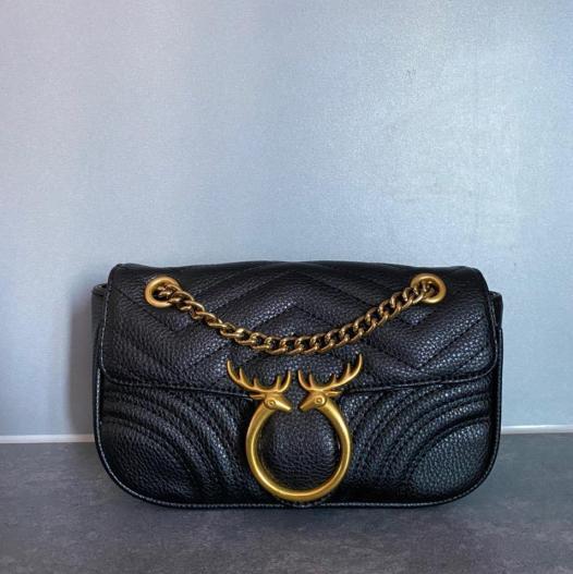 Black n gold bag