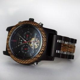 Luxury Wooden Watch Zebrawood x African Ebony