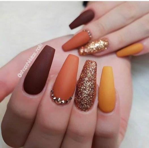 Autumn Dreams - Pin Inspired - Pretty and Pressed Nails