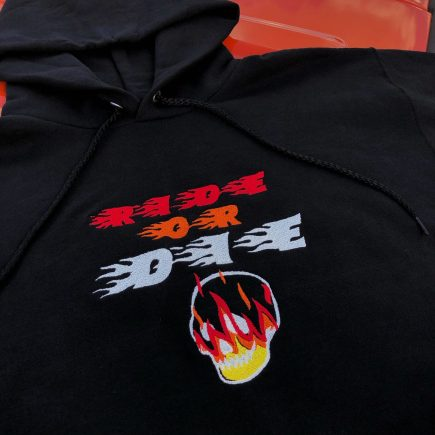 """""""ride ot die"""" hoodie"""