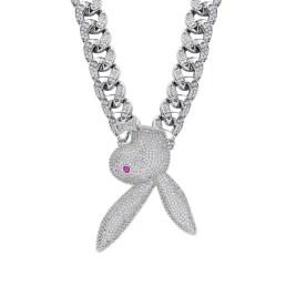 Playboy bunny necklace