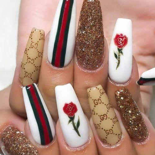 Gucci Pressed - Pin Inspired - Pretty and Pressed Nails