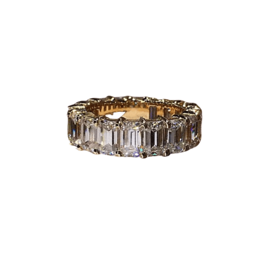 eternity band sterling silver ring