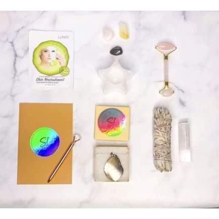 Full Moon Power Kit with Selenite Candle Holder - SOUL IMPACTFUL