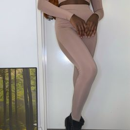 Nude leggings 2 piece set