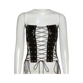 Corset. Latex Corset. Black corset. Lingerie. Party outfit