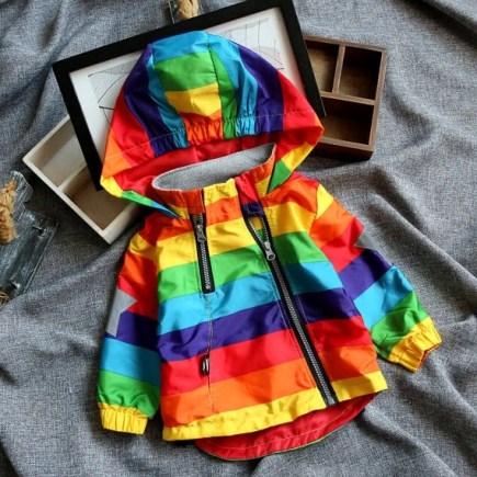 Rainbow Windbreaker/Jacket DAISY DELANI Co