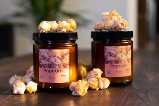 caramel popcorn candle