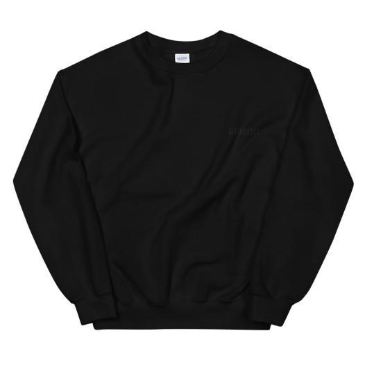 Gemini - All Black Unisex Sweatshirt
