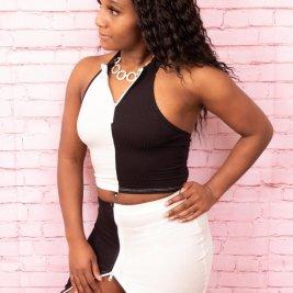 Split Decision Skirt Set