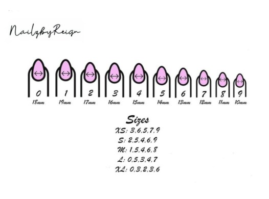 Use this sizing chart to pick the perfect size for your nails.