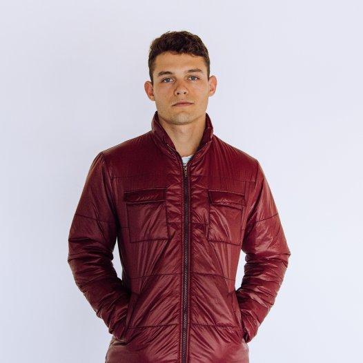 Arius Juan High Fashion Burgundy Puffer Jacket
