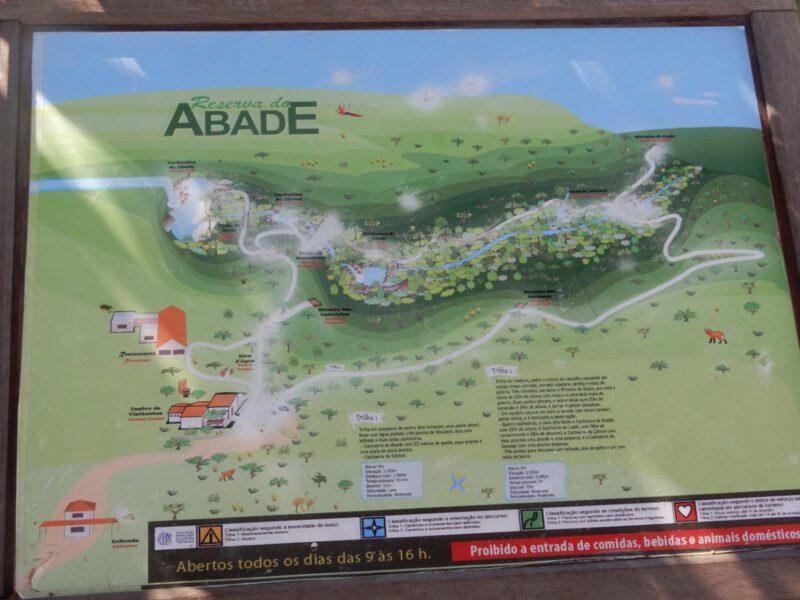 Foto van een landkaart van de omgeving Reserva da Abade vlakbij Pirenópolis