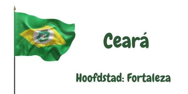Vlag van de Braziliaanse deelstaat Ceará met als hoofdstad Fortaleza