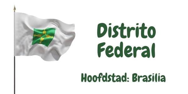 Vlag van het Federale district Distrito Federal met als hoofdstad Brasilia