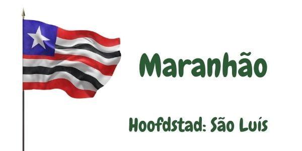 Vlag van de Braziliaanse deelstaat Maranhão met als hoofdstad São Luís