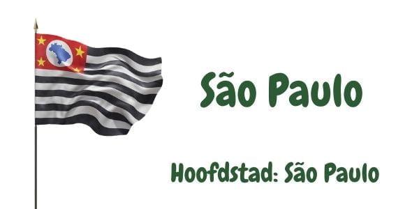 Vlag van de Braziliaanse deelstaat São Paulo met als hoofdstad São Paulo