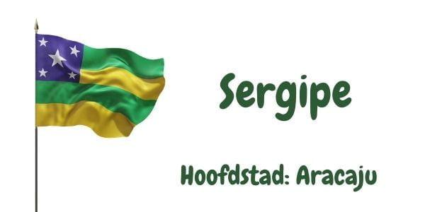 Vlag van de Braziliaanse deelstaat Sergipe met als hoofdstad Aracaju