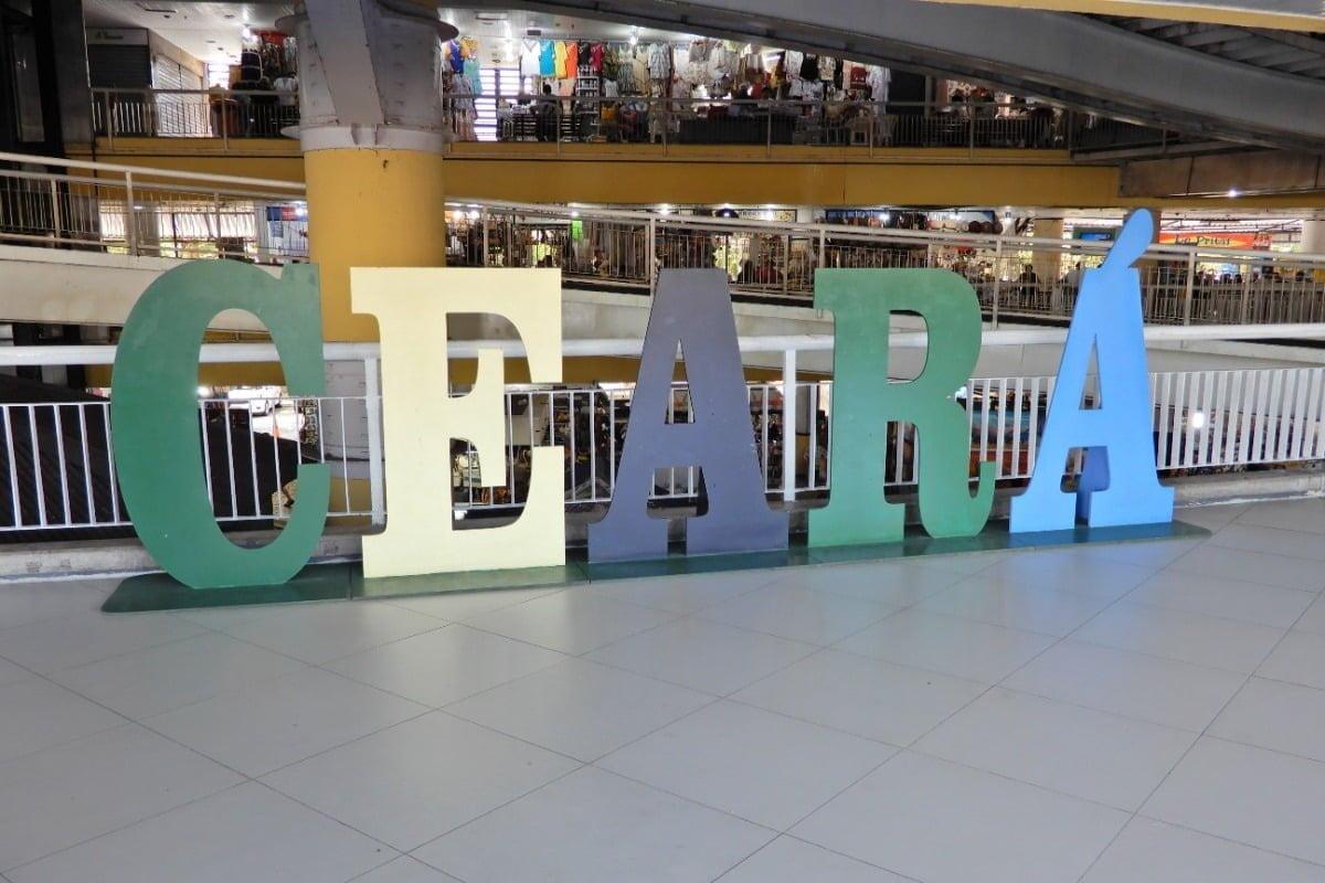 Letters van CEARÁ in de markt in Fortaleza Mercado Central Ceará