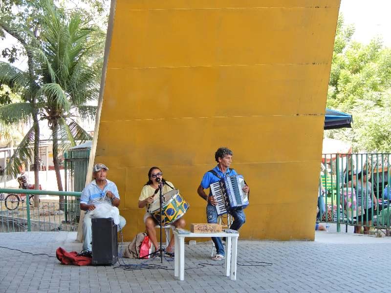 Mercado Central Fortaleza-Gezelligheid en muziek