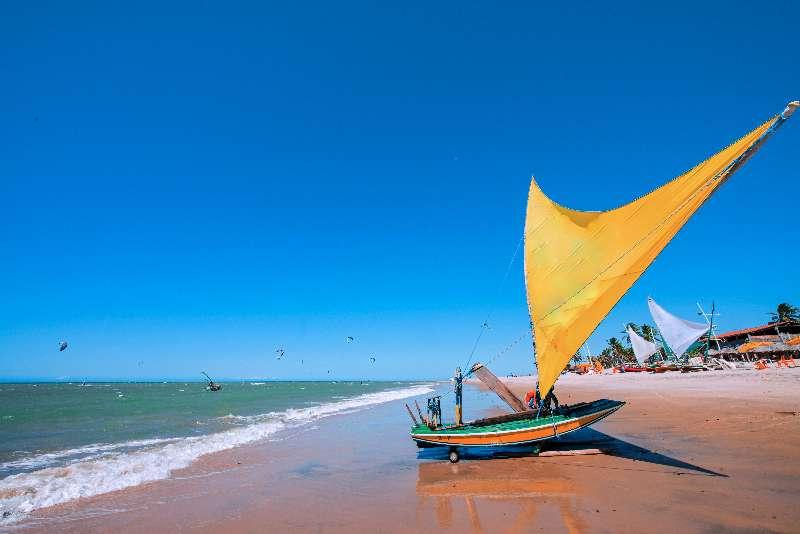 Jangada op het strand van Cumbuco