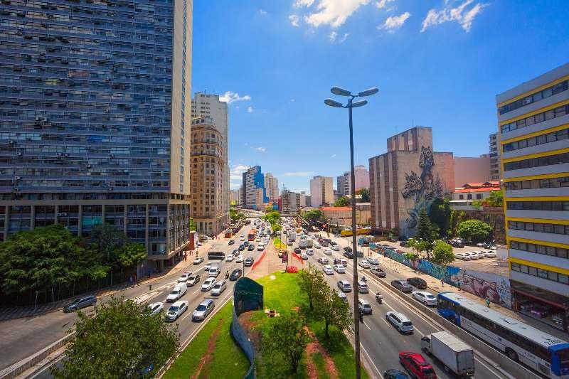 São Paulo-Bezienswaardigheden São Paulo-Viaduto do Chá