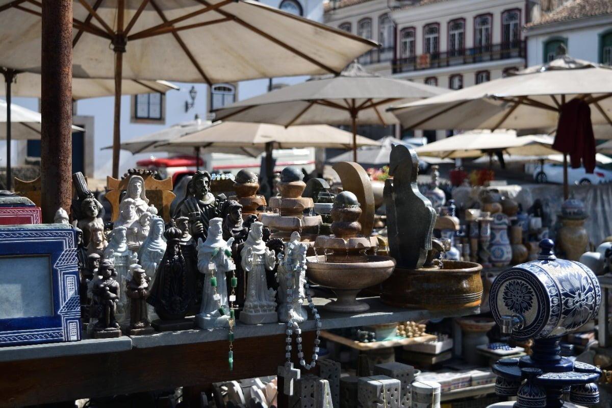 Ouro Preto-Handicraft Fair-Markt met handgemaakte souvenirs