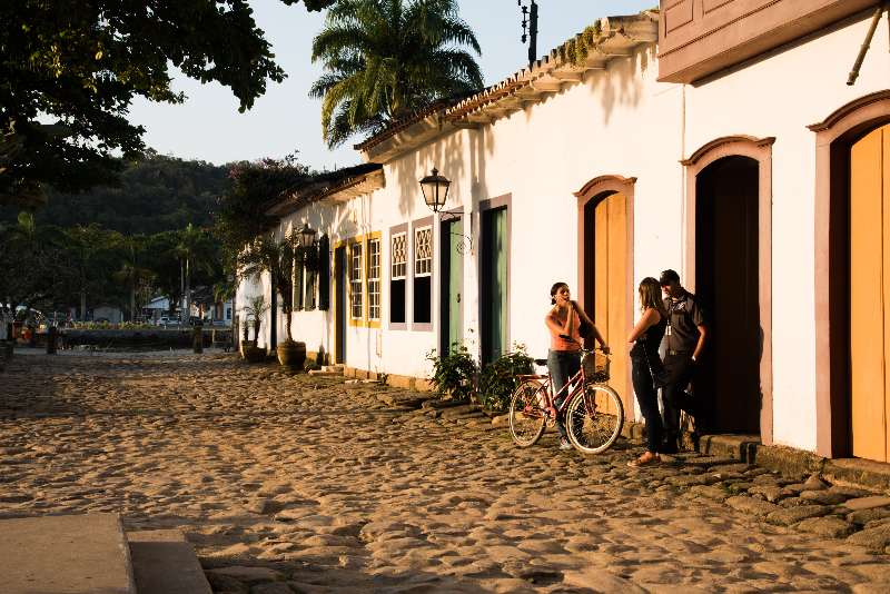 Rio de Janeiro-Paraty-Straat in Paraty