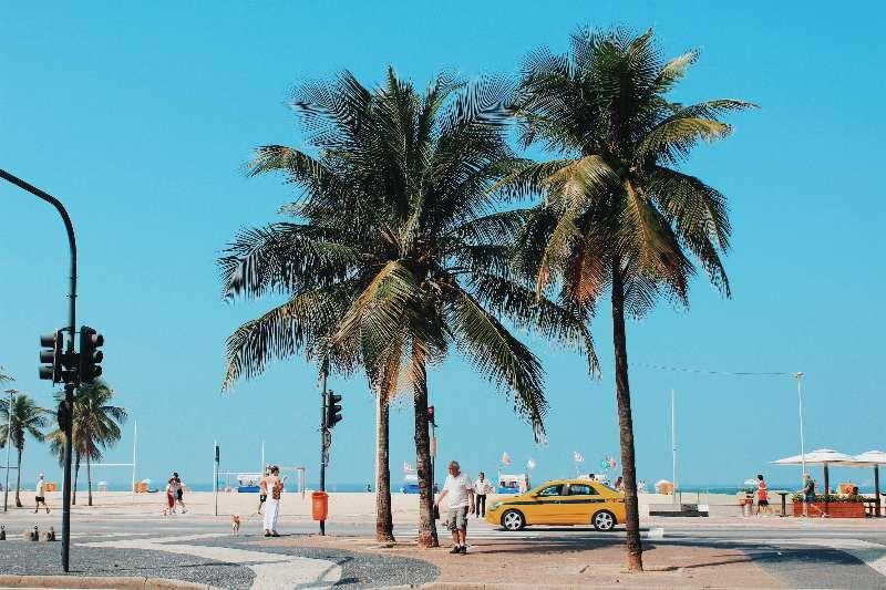 Rio de Janeiro-Copacabana-Boulevard van Copacabana