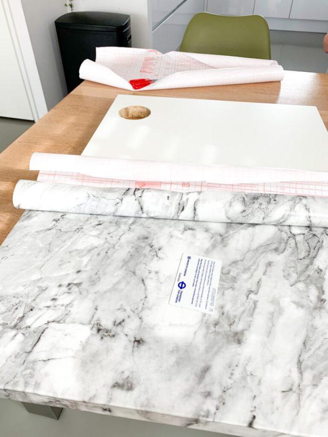 Marmer plakfolie voor het blad van het Micke bureau