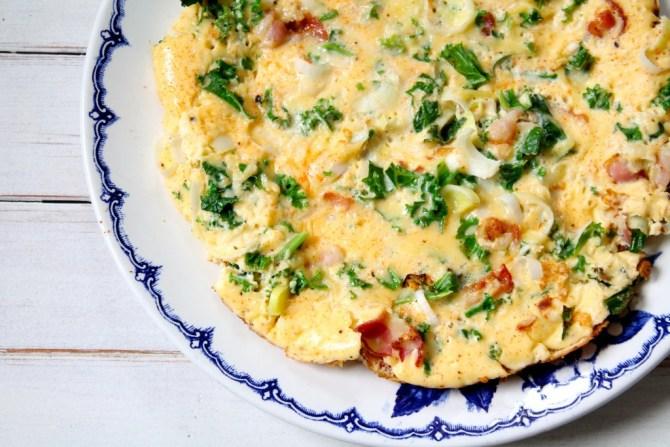omelet met boerenkool
