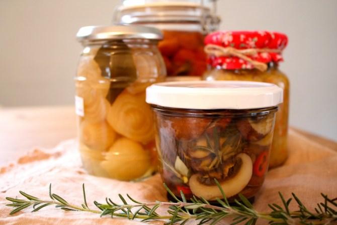 paddenstoelen op olie