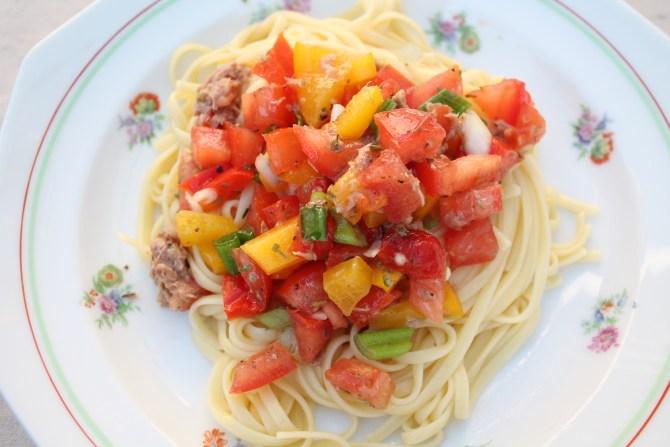 Zomerse spaghetti
