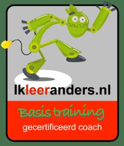 Logo 'Ik leer anders'. Basistraining voor gecertificeerd coach.