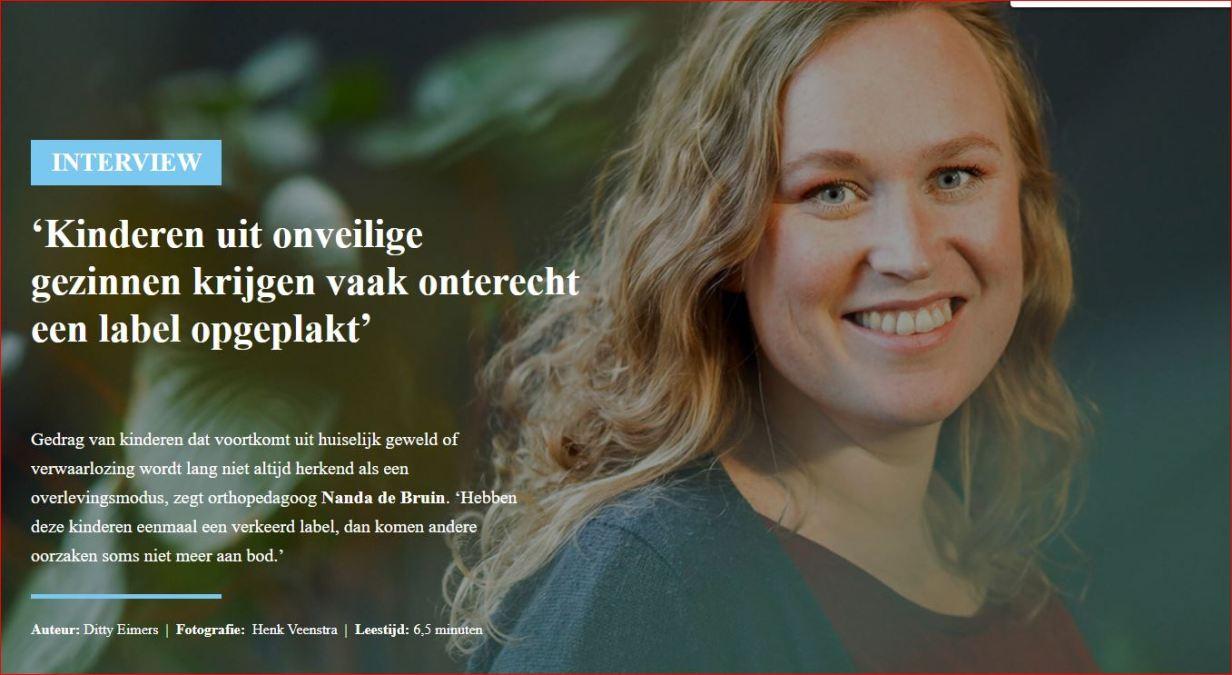 Foto interview Nanda de Bruin