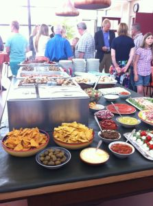 mediterrasns buffet in het doprshuis hekelingen