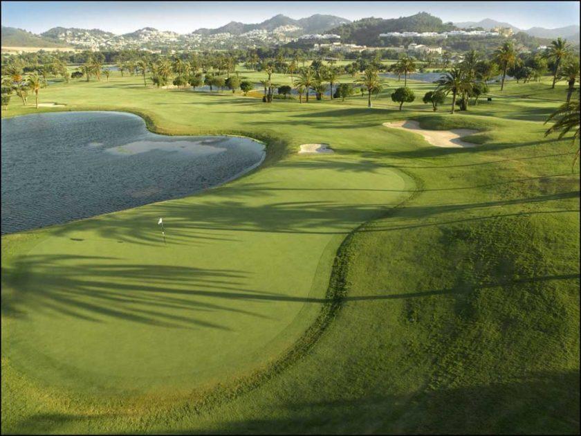 Golfbanen in Murcia regio =La Manga Club Golf Course