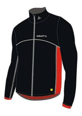 Craft Thermo Jacket Flatlock – Thermo Windstopperjack – Zwart/Rood