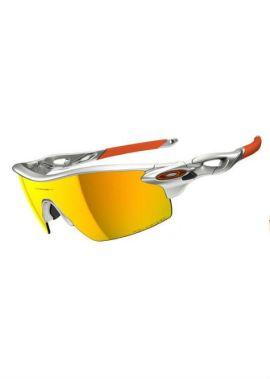 Oakley Radarlock Pitch - Sportbril - Zilver/Oranje